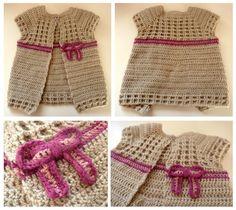 L'Atelier de Nionii: {Crochet} Gilet sans manche  Gilet bébé crochet