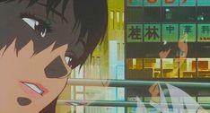 Aesthetic Gif, Blue Aesthetic, Aesthetic Vintage, Sad Anime, Anime Manga, Images Gif, Art Images, Joker Dark Knight, Satoshi Kon