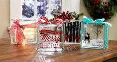 Holiday Glass Blocks - Craft Warehouse