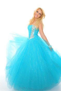 hermoso vestido en turquesa