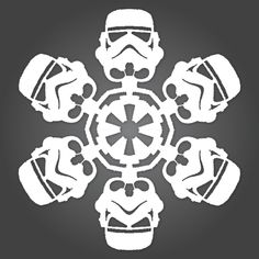 Yep...I made this one!  It is decorating my classroom as we speak.  If It's Hip, It's Here: It's Snowing Star Wars! 10 new DIY Star Wars Paper Snowflake Templates for 2011.