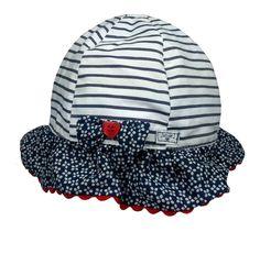 0975950507c9 Details about Junior J Jasper Conran Baby Girls Hat Striped Sun Cotton 0-6  Months