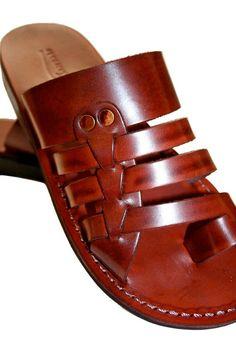 Brown Skate Leather Sandals For Men & Women - Handmade Unisex Sandals, Flip Flop Sandals, Jesus Sandals, Brown Leather Sandals Jesus Sandals, Shoes Sandals, Dress Shoes, Leather Slippers For Men, Mens Slippers, Brown Leather Sandals, Leather Shoes, Fashionable Snow Boots, Leather Men
