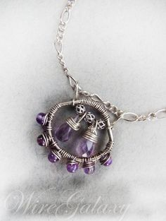 Pendant  with amethyst wire wrap/gemstone by WireGalaxy on Etsy