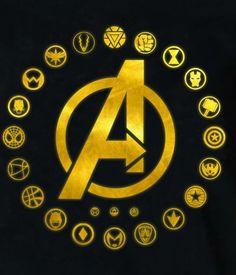 Marvel Logo, Marvel Avengers, Avengers Team, Avengers Memes, Marvel Art, Marvel Memes, Superhero Symbols, Avengers Symbols, Avengers Tattoo