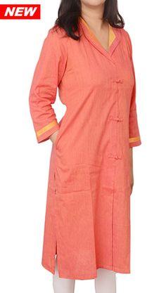 Women Corporate Kurtas, Women Corporate Wear, Womens Wear, Indian Concepts, 'Blazer Look' Loop-Knot Corporate Kurta
