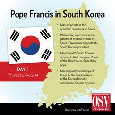 Keep updated as Pope Francis begins his visit in S. Korea: http://osv.cm/1ieode6