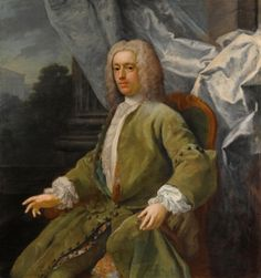 Portrait of a Seated Gentleman, Three Quarter Length, Wearing a Green Jacket - Jacopo Amigoni - The Athenaeum