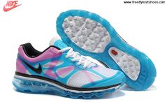 Cheap Womens Nike Air Max 2012 Blue Pink White Shoes For Sale