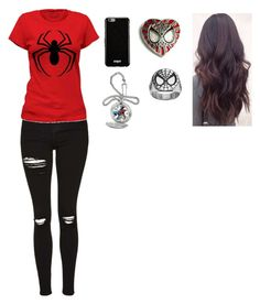 """""""spiderman"""" by shadowangel1126 ❤ liked on Polyvore featuring Topshop, Givenchy and Disney"""