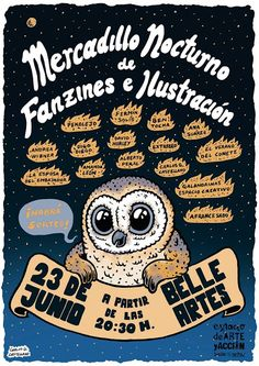 CAIDO DE UN PERAL - Cómic e Ilustración: Mercadillo nocturno de Fanzines e Ilustración