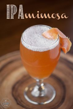 IPA Mimosa - A refreshing and manly drink made from an ice cold IPA and freshly squeezed grapefruit juice, perfect for a tasty game day cocktail.