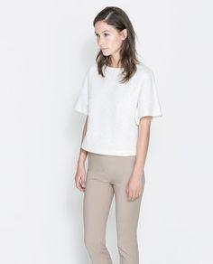 Image 1 of POLKA DOT PRINTED BLOUSE from Zara