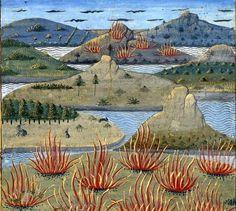 Iles Eollennes, Secrets d'histoire naturelle, d'après Solin, 1480-1485, Robinet Testart.