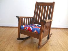 Antique Oak Mission Rocking Chair  Santa's by TheNewtonLabel, $425.00