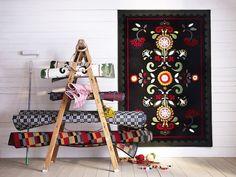 IKEA Akerkulla Rug Low Pile Rug Carpet Spring 2013 Textile Collection Floral | eBay