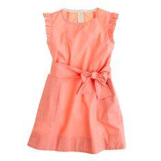 Girls' mini-ruffle dress