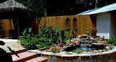 Backyard+Pond+with+Waterfall