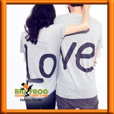Cute couple shirts to let the world know how much you love each other. Contact us at DesignersValrico@BigFrog.com and we'll get started on your custom shirts!