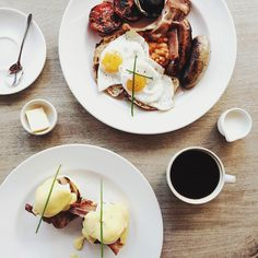 As always, Sunday Brunch! Usually have Soft-boiled Eggs & Toast Soldiers, but perhaps this weekend, it's back to a very favourite, Eggs Benedict . . .