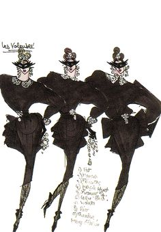 Thierry Mugler...illustrations, 1980s