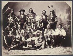 Ponca Delegation - 1877   www.American-Tribes.com
