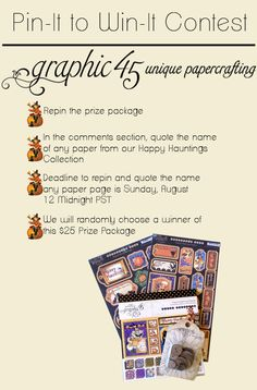 """Graphic 45 Pinterest Contest! LOVE this line! Check out the paper called """"Fright Night"""" ~ so '50s!"""