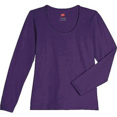 Hanes Women's Essential Long-Sleeve Scoop Neck Tee