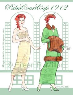 Palm Court Cafe 1912 Paper Doll by Eileen Rudisill Miller