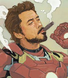 It's saturday....every hero needs some rest  #daveseguin #tonystark #ironman #saturday by devilzsmile.com #devilzsmile