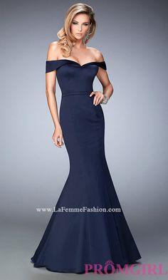 La Femme Off the Shoulder Prom Dress Style: LF-22149