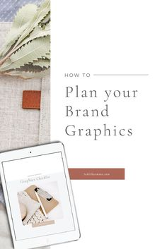 How to plan your brand graphics and decide what graphics you will need for your business. Go through your business processes and plan out all the graphics you need with a free checklist. Determine what graphics are a priority, and what you can design yourself and what graphics should be outsourced. #brandgraphics