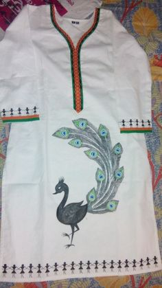 My 1st Kurti painting... With warli combination....