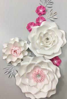 paper flower backdrop wedding centerpiece giant paper flowers