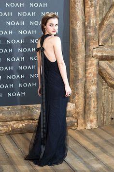 In a Wes Gordon dress, Christian Louboutin heels, and Ana Khouri earrings at the Berlin premiere of Noah.   - ELLE.com