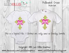 Items similar to Print your own Iron on - Polkadot Cross, religious, easter, Christian DIY Printables - girly bow - Digital Sheet - digital transfer on Etsy My Etsy Shop, Polka Dots, Girly, Bows, Christian, Trending Outfits, Handmade Gifts, Shopping, Clothes