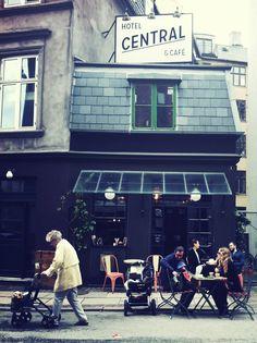 The world's smallest hotel: Hotel Central og Café in the #Vesterbro neighborhood -- Tullinsgade 1, #Copenhagen