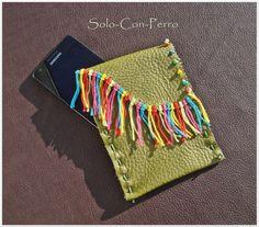 ° CLOUD 1 ° Handy Smartphone Tasche Leder  UNIKAT von °  Solo-Con-Perro ° auf DaWanda.com