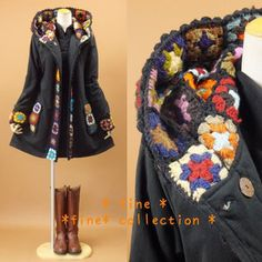 mori girl jacket - love this idea!  I have a coat that could totally use this treatment inside the hood