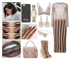 """""""Untitled #208"""" by stillkidruahl on Polyvore featuring Suzanne Kalan, Chanel, Balmain, River Island and Alexander McQueen"""