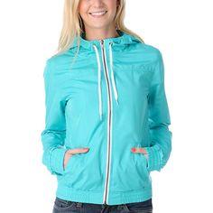 Zine Girls Ceramic Blue Windbreaker Jacket