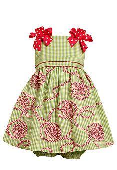 Bonnie Jean® Gingham Bow Soutache Dress