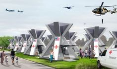 GEOTECTURA Architectural Studio has come with a concept emergency shelter that is both green and easy to deploy. Dubbed the X2Shelter or X2S, the emergency shelter can be airdropped to unreachable disaster zones and is powered by renewable energy. The X2S can be used as a standalone tent for dwelling, sanitation and health care and can also be connected with other X2S shelters to provide shelter for many people.