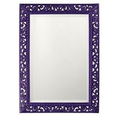 Howard Elliott Rectangle Bristol Glossy Royal Purple Mirror