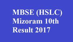 Mizoram 10th Result 2017