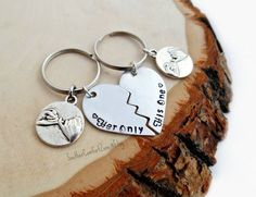His One Her Only Key Chains - Love Long Distance Relationship - You  Complete Me - Personalized - Wed 7d84838a45