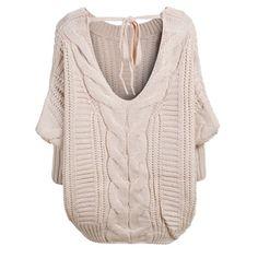39,90EUR Pullover beige mit Rückenausschnitt