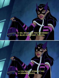 But he is really terrible at phone sex. Huntress is not impresed. | 22 Times The Justice League Proved Their Superpower Is Sass