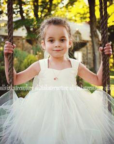 Flower Girl Dress Ivory White
