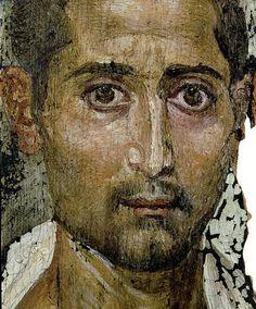 Mummy Portrait of a Bearded Man, AD (encaustic on wood) Ancient Egyptian Art, Ancient Rome, The Ancient One, Greek History, Ancient History, Egypt Mummy, Egyptian Mummies, Roman Art, European Paintings